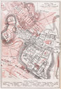 Vintage map of the Imperial forums of Rome