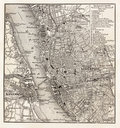 Vintage map of Liverpool Stock Image