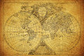 Vintage map of the world 1752 Royalty Free Stock Photo