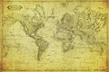Vintage map of the world 1831 Royalty Free Stock Photo
