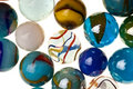 Vintage marbles isolated Stock Images