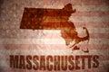Vintage massachusetts map Royalty Free Stock Photo