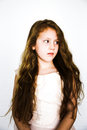 Vintage matte girl little in finish grainy Stock Image