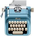 Vintage mechanical desktop typewriter Royalty Free Stock Photo