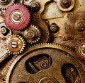 Picture : Vintage mechanism to gears technology