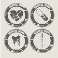 Vintage medicals icons medical over background vector illustration Stock Photo