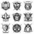 Vintage Medieval Labels Set