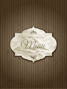 Vintage menu design Royalty Free Stock Photos