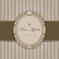 Vintage menu with elegant frame bon appetit calligraphy retro style high detail vector Stock Photos