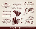 Vintage menu ornaments Stock Photography
