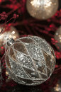 Vintage Mercury Silver Christmas Ornament 2 Royalty Free Stock Photo