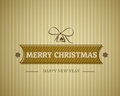 Vintage merry christmas card Royalty Free Stock Photos