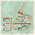 Vintage merry christmas concept hand Stock Photography
