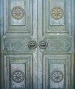 Vintage metal door it is in chinese interior design Stock Photos