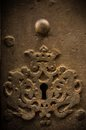 Key hole in old door Royalty Free Stock Photo
