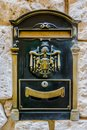 Vintage Metal Mailbox in Mdina, Malta Royalty Free Stock Photo