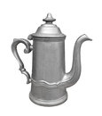 Vintage metal pewter teapot isolated Stock Images