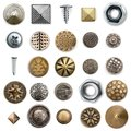 Vintage metal sewing buttons collection Royalty Free Stock Photo
