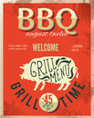 Vintage metal sign dad s bbq vector eps grunge effects can be easily removed Royalty Free Stock Photo