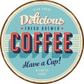 Vintage Metal Sign - Delicious Fresh Brewed Coffee