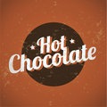 Vintage metal sign - Hot Chocolate Royalty Free Stock Photo