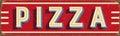 Vintage metal sign - Pizza