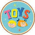 Vintage metal sign - TOYS for boys and girls.