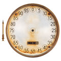 Vintage meter of a petrol pump with separate indicator isolated rusty needle on white background Stock Photography