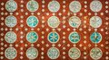 Vintage mexican pattern, highly detailed colonial style backgrou Royalty Free Stock Photo
