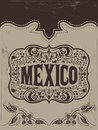 Vintage mexico mexican vector poster available Stock Photo