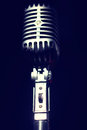 Vintage microphone Royalty Free Stock Image