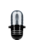 Vintage Microphone Isolated Royalty Free Stock Photo