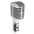 Vintage microphone isolated render on a white background Stock Photography