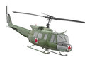 Vintage military helicopter isolated green ambulance on white Royalty Free Stock Photo
