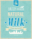 Vintage milk card vector illustration Stock Images