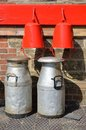 Vintage milk churns Royalty Free Stock Photo