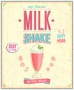 Vintage MilkShake Poster.
