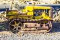 Vintage Mini Bulldozer In Early Morning Royalty Free Stock Photo