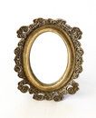 Vintage mirror decoration isolated on white Stock Image