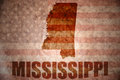 Vintage mississippi map Royalty Free Stock Photo