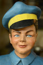 Vintage model of boy mannequin a or man in a blue uniform Royalty Free Stock Images