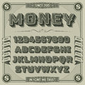 Vintage Money Font with shadow Royalty Free Stock Photo