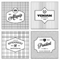 Vintage monochrome background with label Stock Photo