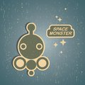 Vintage monster retro robot illustration in Royalty Free Stock Image