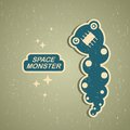 Vintage monster retro robot illustration in Royalty Free Stock Photo