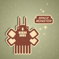 Vintage monster retro robot illustration in Royalty Free Stock Images