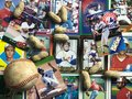 Vintage Montreal Expos collage Royalty Free Stock Photo