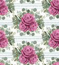 Vintage moody blue lavender rose roses flowers and eucalyptus br
