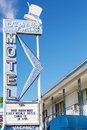 Vintage motel sign and rooms in Las Vegas Royalty Free Stock Photo