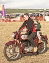 Vintage motor bike at Roseisle Vintage Rally. Stock Photos